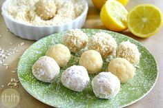 Clean Eating Raw Vegan Lemon Meltaway Balls..made with clean ingredients and they're raw, vegan, gluten-free, dairy-free, paleo-friendly and contain no refined sugars | The Healthy Family and Home #rawfoods #vegan #glutenfree #paleo #cleaneating #lemons #truffles