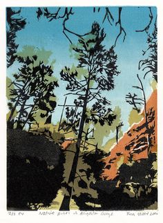 Native Pines in Aligator Gorge by TinasPrints on Etsy