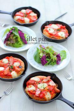 レシピブログさんの連載は『スキレットdeピザ』    ♪Happy Delicious Bakery♪ - 楽天ブログ