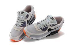 Nike Air Max 90 Running Shoe Essential Light Base Gray/Atomic Orange 537384-005