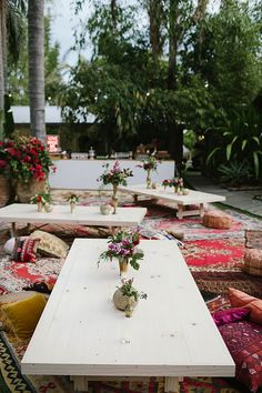 {Real Wedding} Our super sweet Jess + Matt wed in the heart of Byron Bay, then partied amougst a sea of moroccan rugs, gold accents, low tables, palm trees + bougainvilleas // Created by The Events Lounge Team | www.theeventslounge.com.au
