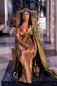 Club Fashionista: #ElizabethTaylor as #Cleopatra. More photos at http://www.clubfashionista.com/2013/01/elizabeth-taylor-as-cleopatra.html.