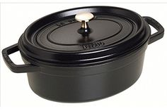 Cocotte Ovale Noire  31cm  550L  Tous feux  four  Staub *** Details can be found by clicking on the image.