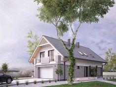 Projekt domu Amarylis 3 152,6 m2 - koszt budowy - EXTRADOM House Front Design, Home Fashion, House Plans, Cabin, House Styles, Home Decor, House 2, Trendy Tree, Balcony