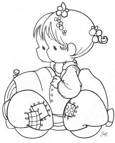 Newlyweds precious moments coloring pages Animal Coloring Pages, Coloring Pages To Print, Free Printable Coloring Pages, Coloring Book Pages, Coloring Pages For Kids, Kids Coloring, Precious Moments Coloring Pages, Digi Stamps, Colorful Pictures