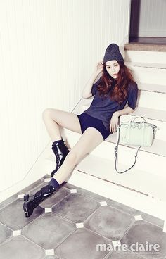 Heirs' Krystal Is A Louis Vuitton Doll In Marie Claire Korea's December 2013 Issue | Couch Kimchi