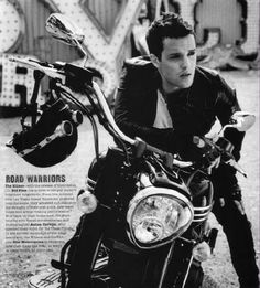 Brandon Flowers of The Killers in a Marlon Brando pose :)