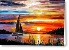 Florida - Lake Okeechobee Greeting Card by Leonid Afremov