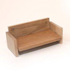 Qubis magnetic sofa - oak blocks that make dolls house furniture