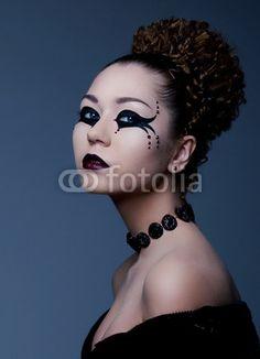 Dramatic theatrical makeup