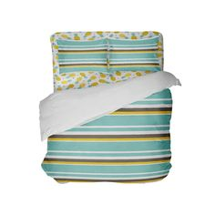 Sea Foam, Brown, White & Yellow Stripes Beach Comforter from Kids Bedding Company Toddler Comforter Sets, Queen Size Comforter Sets, King Size Comforters, Dorm Room Comforters, Dorm Bedding, Bedding Sets, Beach Comforter, King Comforter, Duvet