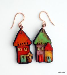Colorful Polymer Clay Jewelry by Anarina Anar ~ The Beading Gem's Journal