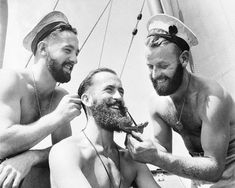 Bearded Sailors Handsome Men Vintage Australian by EclecticForest