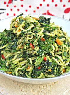 ADDICTED to VEGGIES: Nut Free Pea Pesto & Super Green Pasta Bowl