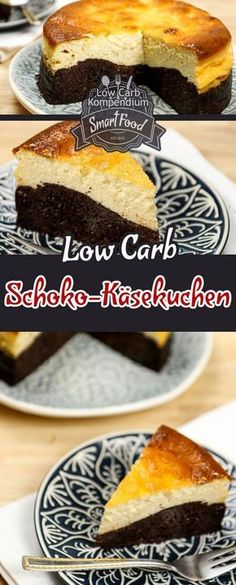 Low-Carb Schoko-Käsekuchen. Wer die Wahl hat, hat die Qual? Damit ist jetzt schluss! Für alle, die sich bis jetzt immer entscheiden mussten, ob sie lieber einen saftigen Schokoladenkuchen oder doch lieber einen leckeren Käsekuchen genießen wollen, gibt es jetzt die ultimative Lösung: Unseren Low-Carb Schoko-Käsekuchen :) Der Schoko-Käsekuchen ist herrlich saftig, die dicke Schokoladenschicht wunderbar dunkel schokoladig und die zweite Schicht aus Käsekuchen harmoniert dazu einfach klasse :)