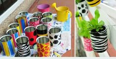 614204 Garden with recyclable cans Garden Tips 0001 with recyclable cans: Tips