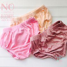 Kayla Soft Cotton Classic No Ruffle Bloomer  - Peach, Pink, Dusty Rose