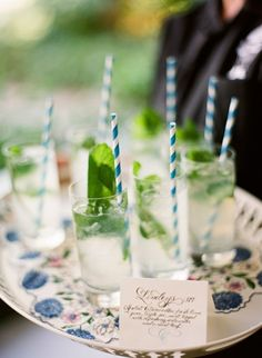 Lemonade with mint.