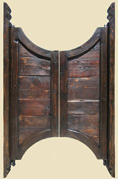 Bar Saloon Doors with Carved Jamb