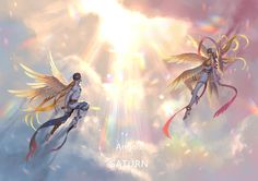 Digimon Adventure Angemon - Angewomon ♦by: Pixiv Id 13435326♦