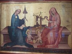 Mary and Elizabeth with their children ca 1400/1410 Nürnberg, Germany
