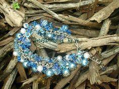 handmade #bracelet : synthetic pearl / resin bead / acrylic bead