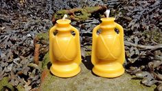 Pure Welsh Beeswax Candles Storm Lantern