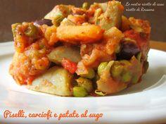 Piselli, carciofi e patate al sugo