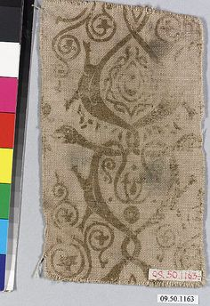 Piece Date: 13th–14th century Culture: German Medium: Linen Classification: Textiles-Painted and Printed Accession Number: 09.50.1163