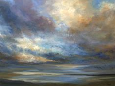 "SOLD Coastal Clouds V by Sheila Finch | $3,600 | oil painting | 30"" h x 40"" w 