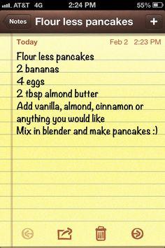 Flour less pancakes
