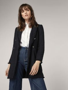 1602964437c4 Fall Winter 2017 Women´s JACKET WITH FRAYED HEM DETAIL at Massimo Dutti for  139 ???