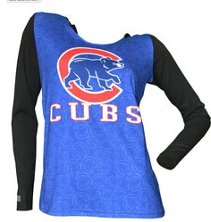 1e47e61c9010b Chicago Cubs Womens Dynamic Hooded Top By Concepts Sport. Cubs Gear ...