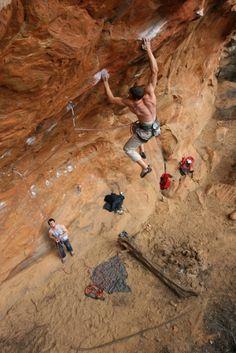rock climbing 8b+