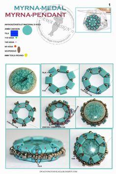 Colgante Pinned by @Manaro Design  Jewelry | Beading | Bracelet | Necklace | Earrings