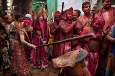 Lath Mar Holi of Barsana,India