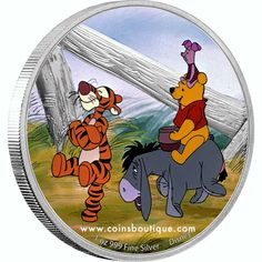 Disney Winnie the Pooh and Friends 1 oz Silver Coin Niue 2021 Disney Winnie The Pooh, Disney Love, Eeyore, Tigger, Hundred Acre Woods, Acrylic Display Case, Dream Boy, Effigy, Queen Elizabeth Ii