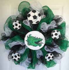 Soccer Deco Wreath with photo transfer center