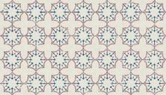 Anchor Tile Red/ White/ Blue (BG1000101) - Barneby Gates Wallpapers - An unusual, geometric nautical tile design made up of anchors and chains in red, white and blue on a white background. Other colourways available. Pattern repeat is actually 7.4 cm not as shown below. Please request sample for true colour match.