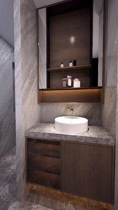 A morden style restroom. Bathroom Design Luxury, Home Interior Design, Small Bathroom Layout, Bathroom Design Inspiration, Bathroom Renos, Bathroom Styling, Future House, Ideas, Bathroom Ideas