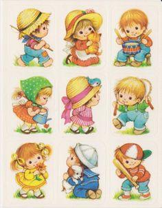 ADORABLE CHILDREN STICKER SHEET BY EUREKA
