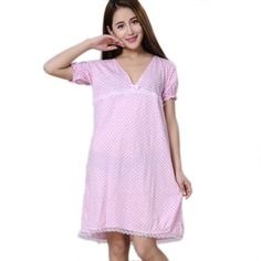 Women Nightgowns 100% Cotton 2017 New Summer and Autumn Female Sleepshirt Thin Nightdress Cheap Lounge Blue Black Pink