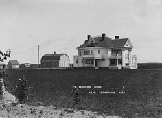 The farmstead and beautiful home of farmer Charles Roland Daniel, east of Lethbridge, Alberta, 1911-1912 (today this house is the Norland Bed & Breakfast)