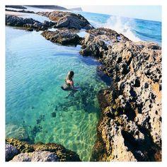The Champagne Pools, Fraser Island #fraserisland #queensland #australia www.fraserisland.net