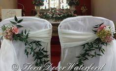 Flora Decor Wedding & Events Flowers Waterford : Louise and John's Faithlegg Church Wedding, Co Waterford. Decor Wedding, Wedding Events, Wedding Decorations, St Nicholas Church, Church Wedding, Flora, Beautiful, Marriage Decoration, Wedding Decor