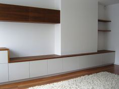 Custom made storage for homes and workspaces. Ranging from bookcases with sliding doors through fitted desking to wardrobes with veneered or spray finished doors. Sliding Doors, Alcove, Theatre, Organize, Bookcase, Kitchens, Lounge, Design Ideas, Shelves
