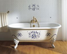 White porcelain tub.
