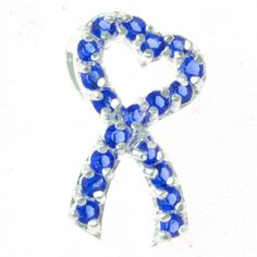 NEW Blue Enamelled Mens Health Prostate Cancer Awareness Ribbon Brooch Pin