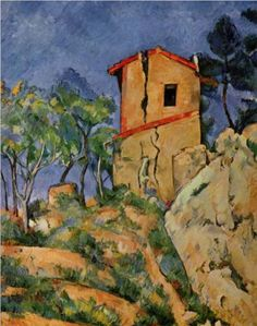 The House with Cracked Walls - Paul Cezanne