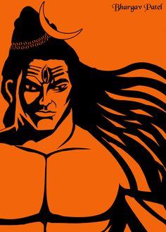 Shiva Hindu, Shiva Art, Shiva Shakti, Krishna Art, Indian Traditional Paintings, Indian Paintings, Lord Shiva Sketch, Hanuman Ji Wallpapers, Shri Hanuman